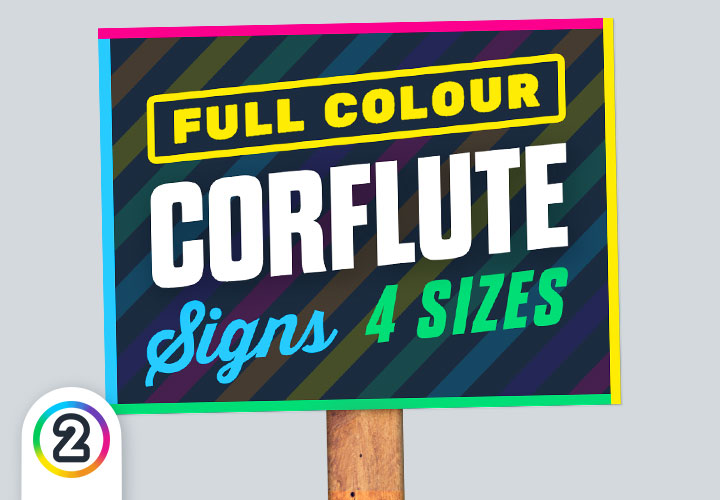 Order your corflute signs online Australia wide from Design 2 Print Today!
