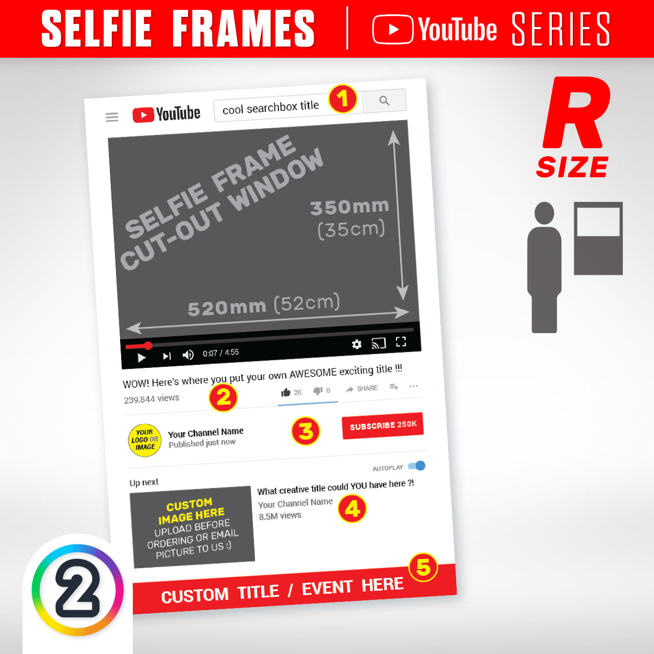 Buy YouTube Selfie Prop Frames online Australia - from $65.00 | D2P (AU)
