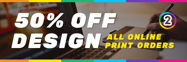50% OFF Graphic Design Online Australia wide with All Online Print Product Orders!