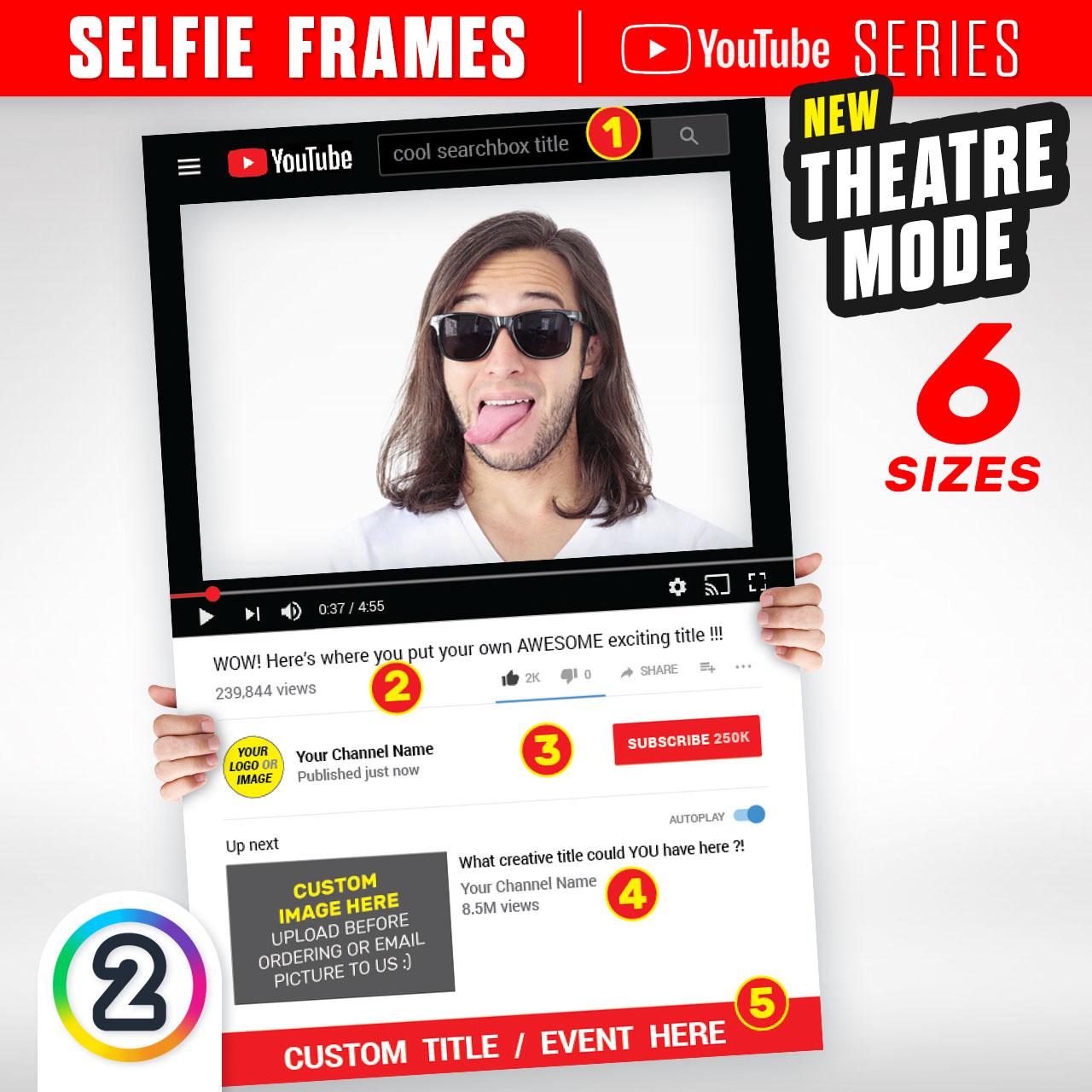 Buy YouTube \'Theatre Mode\' Selfie Frames online Australia - from ...