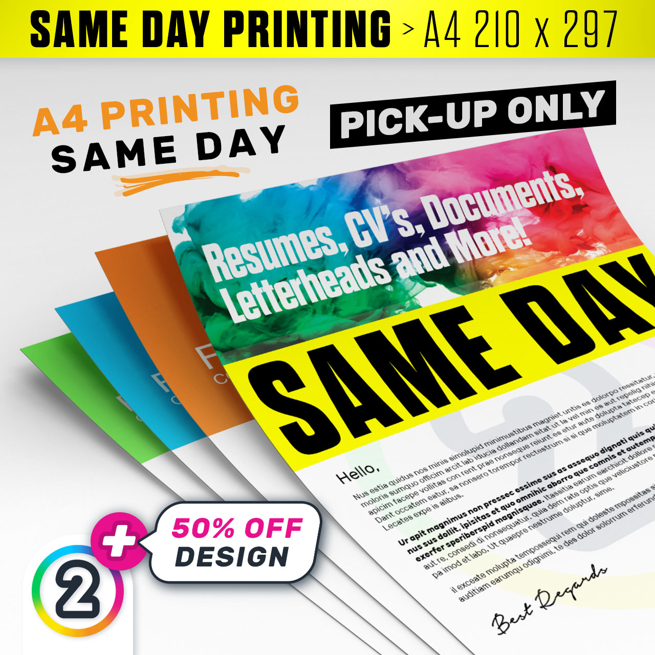 Same day a4 menu poster brochure printing gold coast d2p au same day a4 menu poster brochure printing gold coast reheart Gallery