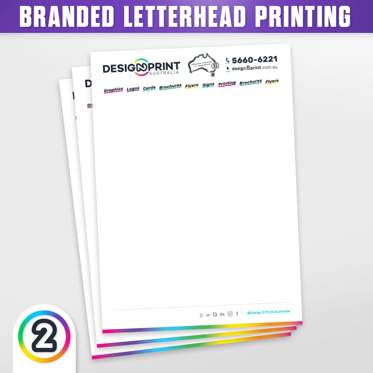 Printed Letterheads, 250 For $99! Letterhead Printing