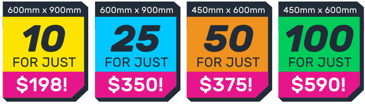 SALE on Corflute Signs Online Australia Wide, Order your Printed Corflute Signage for these SPECIAL prices